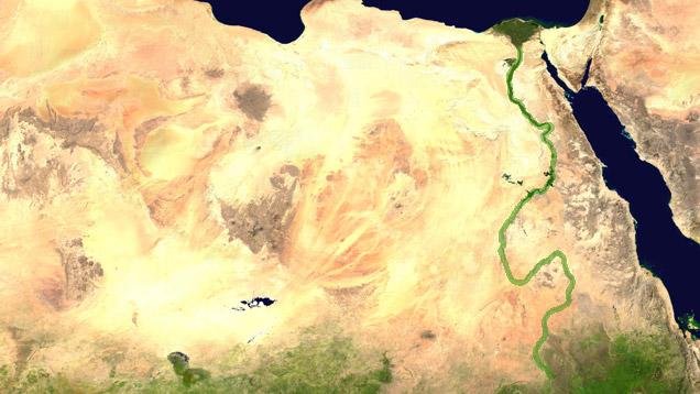 Der nil der nil ist mit 6 671 km der längste oder zweitlängste fluss