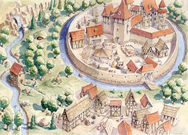 klassewasser.de Wasser im Mittelalter - Kinder