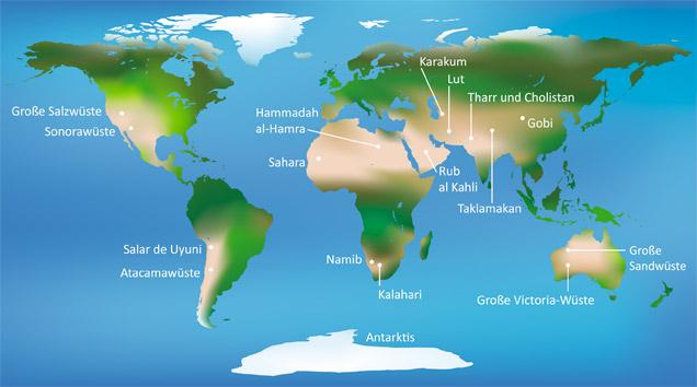 Erde Karte Rund.Klassewasser De Die Arten Der Wüste Jugendliche