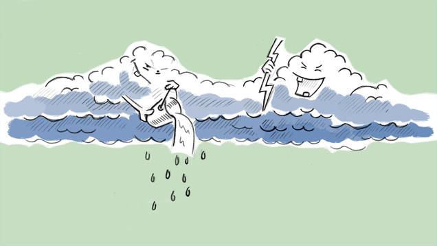 klassewasser.de Wetterfroschkurs - Lektion 3 Wolken - Kinder